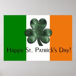 Irish Flag - Happy St. Patrick's Day Print