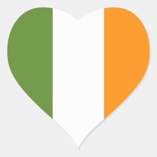Irish flag heart St. Patrick's Day sticker