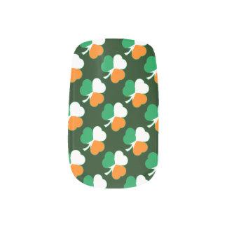 Irish Flag Hearts Shamrocks Minx Nail Art
