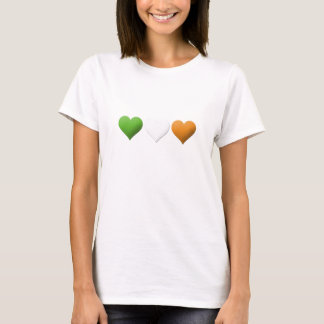 Irish Flag Hearts T-Shirt