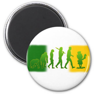 Irish flag Leprechaun evolution gear Magnet