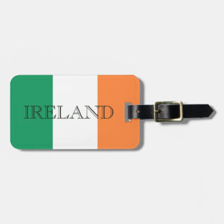Irish Flag Letters Luggage Tag with Custom Details