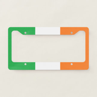 """Irish Flag"" License Plate License Plate Frame"