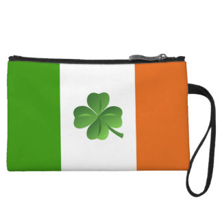 Irish flag mini clutch wristlet clutches