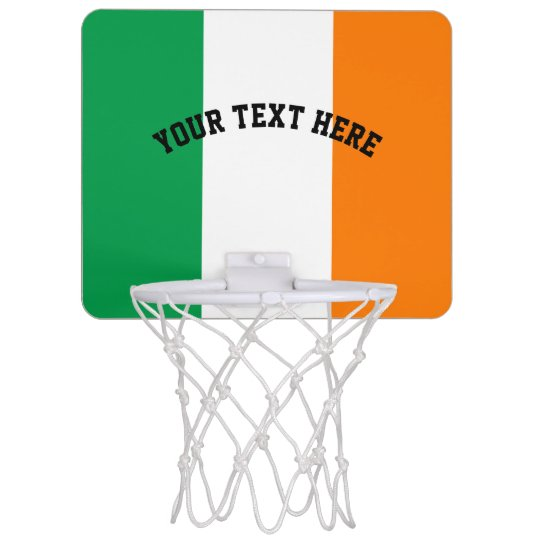Irish flag of Ireland custom Mini Basketball Hoop