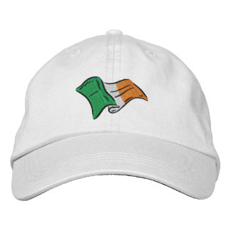 Irish flag of Ireland embroidered on a cap
