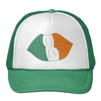 Irish Flag on Lips Funny St.Paddy's Day Hat