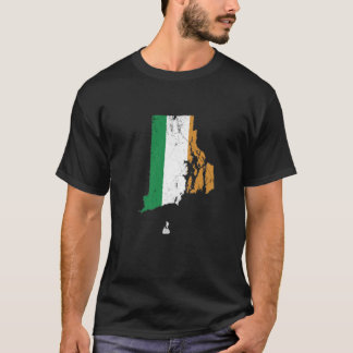 Irish Flag over Rhode Island T-Shirt