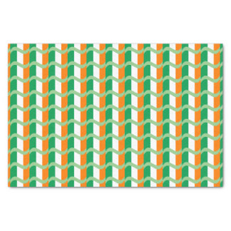 Irish Flag Patterned Tissue Paper