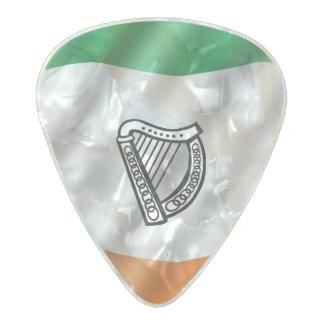 Irish flag pearl celluloid guitar pick
