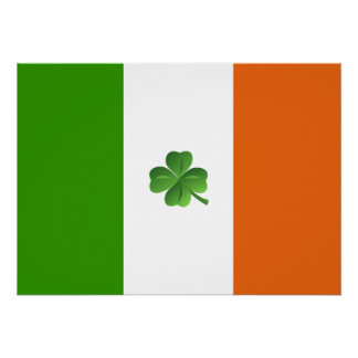 Irish flag poster