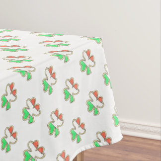 Irish Flag Shamrock Clover Cookie St Patrick's Day Tablecloth