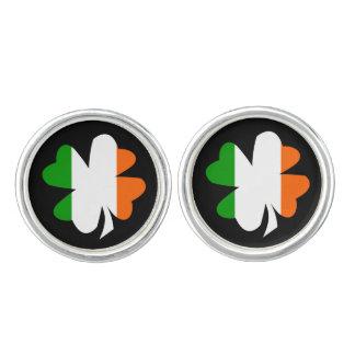 Irish Flag Shamrock Cuff Links