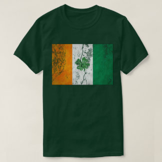 Irish Flag Shamrock (Distressed) T-Shirt