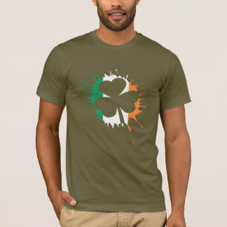 Irish Flag Shamrock St Patricks Day T-Shirt