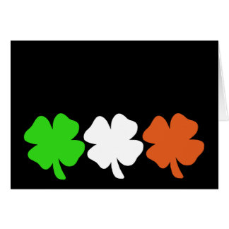 Irish Flag Shamrocks Card