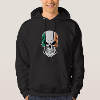 Irish Flag Skull Hoodie