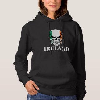 Irish Flag Skull Ireland Hoodie