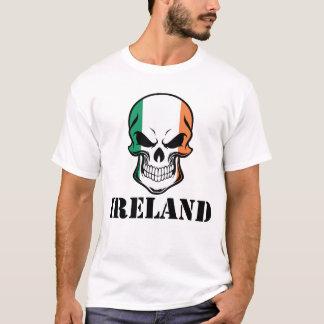 Irish Flag Skull Ireland T-Shirt
