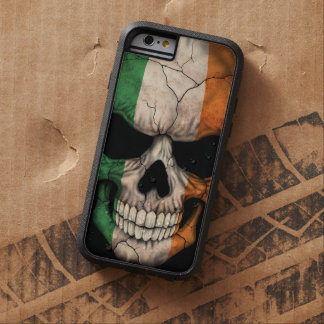 Irish Flag Skull on Black Tough Xtreme iPhone 6 Case