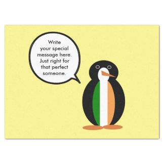 Irish Flag Talking Penguin Tissue Paper