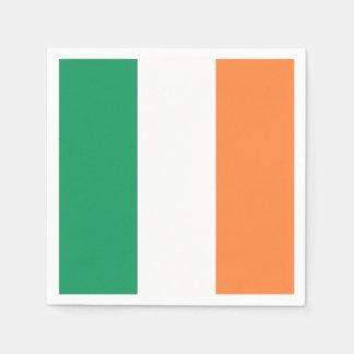 Irish Flag: Tricolor Saint Patrick's Day Party Napkin
