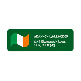 Irish Flag with Celtic Font