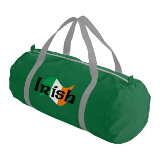 Irish Flag with Celtic Font Gym Bag