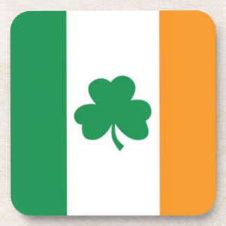Irish Flag with Clover Coaster