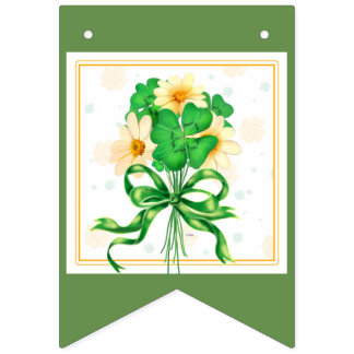 IRISH FLOWERS BUNTING BANNER