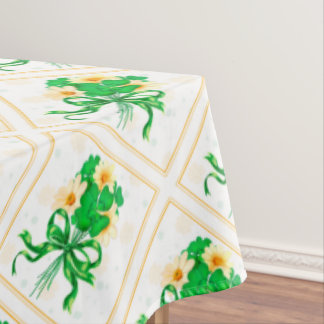 "IRISH FLOWERS ST-PAT Tablecloth COLORLIPS 60""x104"""