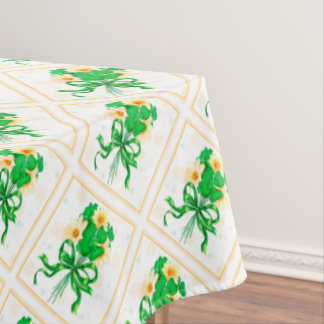 "IRISH FLOWERS ST-PAT Tablecloth COLORLIPS 60""x84"""
