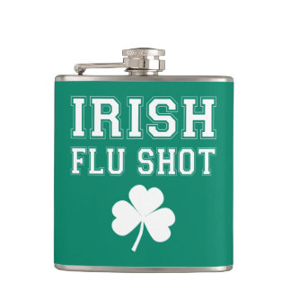Irish Flu Shot St. Patrick's Day Flasks
