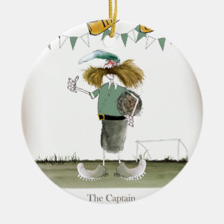 irish football captain ceramic ornament