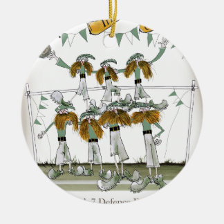irish football defenders ceramic ornament