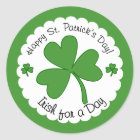 Irish For a Day St Patrick's Day Shamrock Stickers