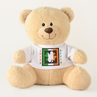 Irish Forever Shamrock Flag Stripe Teddy Bear