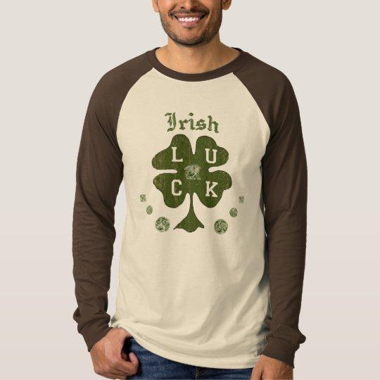 Irish Four Leaf Clover Vintage Mens Shirt