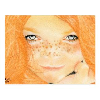 Irish Freckles girl Postcard