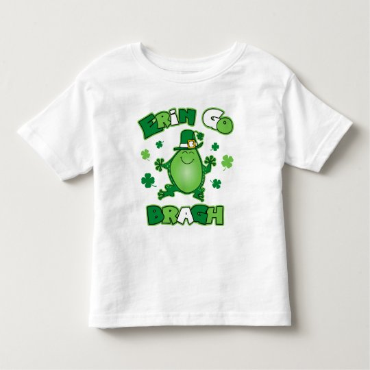 Irish Frog Erin Go Bragh Toddler T-Shirt