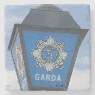 Irish Garda Lamp, Ireland Coaster. Irish Police. Stone Beverage Coaster