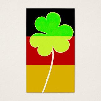 Irish German Flag Shamrock Clover St. Patrick Fun Business Card