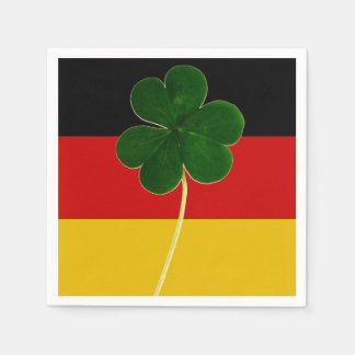 Irish German Flag Shamrock Clover St. Patrick Fun Paper Napkin