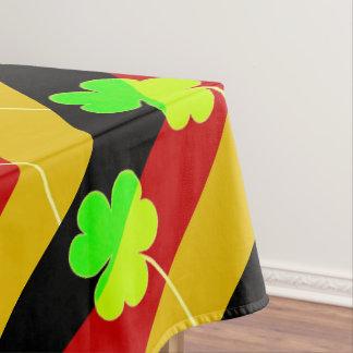 Irish German Flag Shamrock Clover St. Patrick Fun Tablecloth