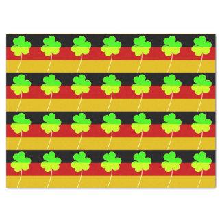 Irish German Flag Shamrock Clover St. Patrick Fun Tissue Paper