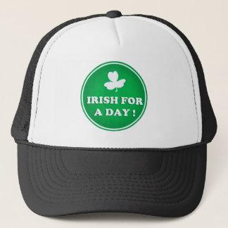 IRISH GIFT. IRISH FOR A DAY ST PATRICKS DAY GIFT TRUCKER HAT