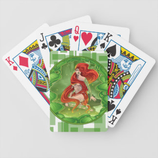 Irish Girl Bicycle Playing Cards