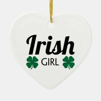 Irish Girl Ceramic Ornament