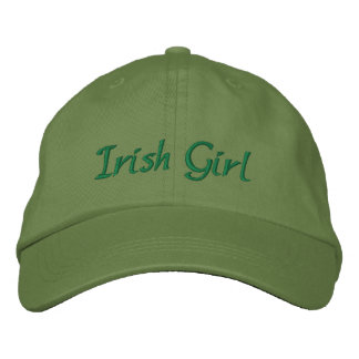 Irish Girl Embroidered Hat