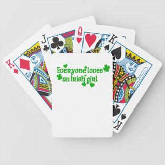 IRISH girl g Bicycle Playing Cards